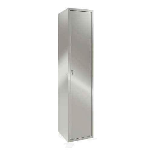 Stainless Steel Locker with Shelf and Coat Hook