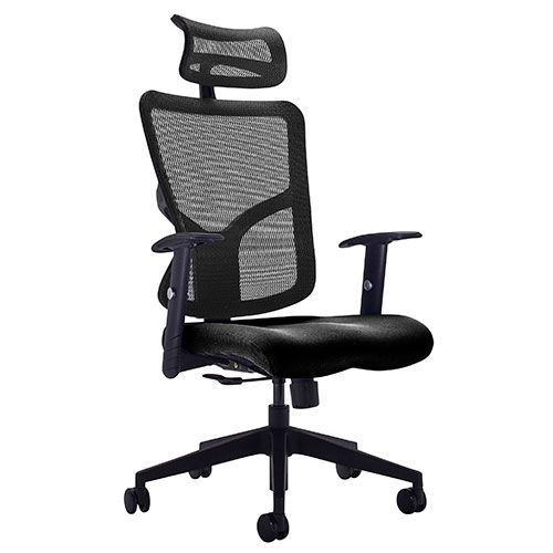 Remarkable Fusion High Back Mesh Office Chair Adjustable Arms Mesh Headrest Home Interior And Landscaping Transignezvosmurscom
