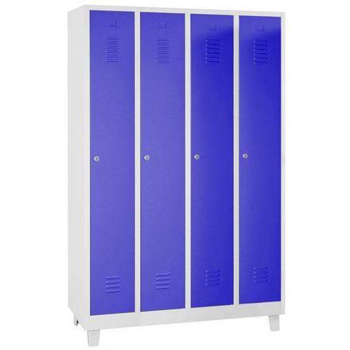 Storage Lockers - 4 Nest with Feet Grey Body & Hasp Lock - 1900x1170x500mm